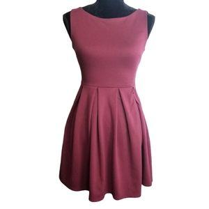 MONTEAU Dress Maroon Red Sleeveless Mini